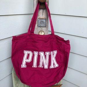 Pink Victoria Secret duffle bag one size